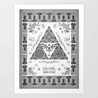Legend Of Zelda Kingdom … Art Print