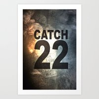 catch 22 textured Art Print