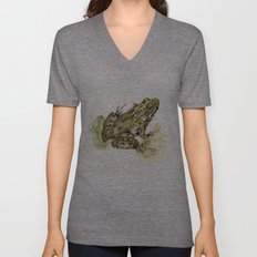 Northern Leopard Frog Unisex V-Neck