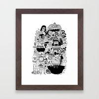 KIDS DOOM Framed Art Print