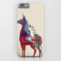 iPhone Cases featuring The Last Unicorn by nellfoxface