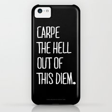 Carpe Diem ///www.pencilmeinstationery.com iPhone 5c Slim Case