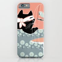 iPhone & iPod Case featuring Kitty Bandit by Mary Kilbreath