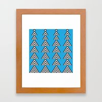 Zig Zag Mountain Framed Art Print