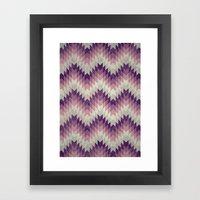 Chevron Pattern_Pink Framed Art Print