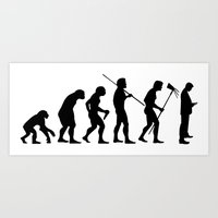 Evolution to Mobile  Art Print