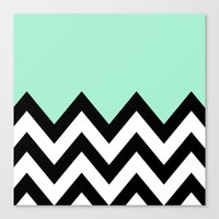 MINT GREEN COLORBLOCK CH… Canvas Print