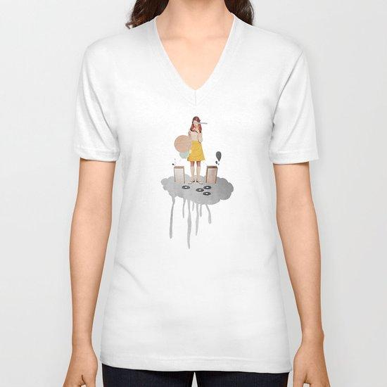 ON / ... | Collage V-neck T-shirt