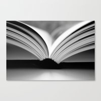 Open Book Canvas Print