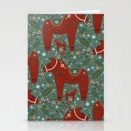 Jolly Dala Horse  Stationery Cards