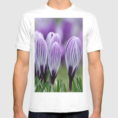 Purple Crocus Mens Fitted Tee White SMALL