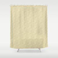 Gold Zebra Print Shower Curtain