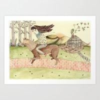 Seeking Home Art Print