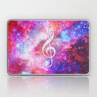 Galaxy Nebula Glitter Music Note Pink Space Laptop & iPad Skin