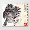 Bic Biro on vintage air mail envelope Canvas Print