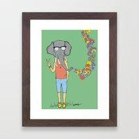Mr. Elephant Wants a Peace of that Framed Art Print