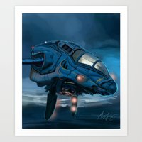 Blue Space Art Print