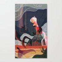 Lava Mermaid Canvas Print