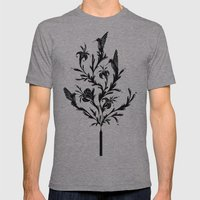 Fluid Bloom Mens Fitted Tee Athletic Grey SMALL