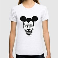 Maniac Mickey Womens Fitted Tee Ash Grey SMALL