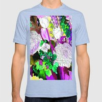 forest flowers 2 Mens Fitted Tee Tri-Blue SMALL