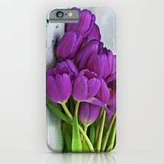 Spring Botanical -- Purple Tulips on Dropcloth iPhone 6s Slim Case