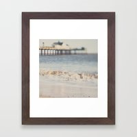 the waves running up against your feet ... Framed Art Print