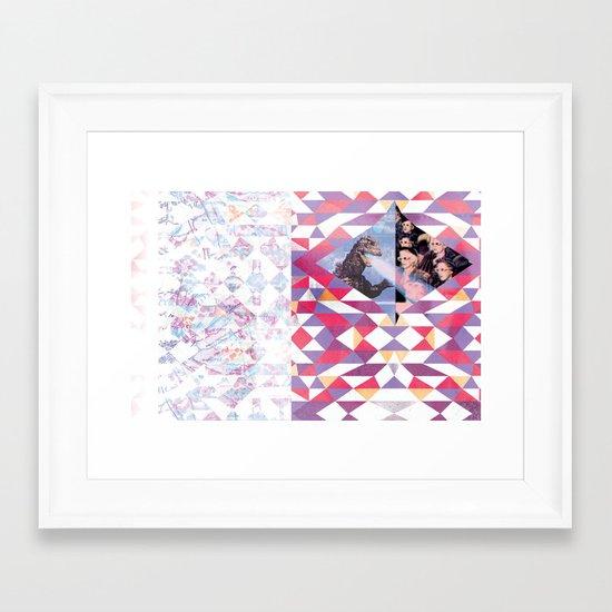 GODZILLA STRIKES AGAIN! Framed Art Print
