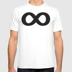 Infinite Heroes Mens Fitted Tee White SMALL