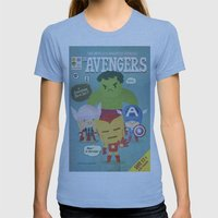 avengers fan art Womens Fitted Tee Athletic Blue SMALL