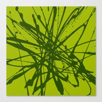 Bloom Green Canvas Print