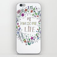 Awesome  Life Color iPhone & iPod Skin