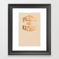 Peeta Loafs Katniss Framed Art Print