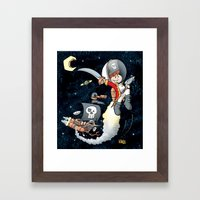 Space Pirate Gilly Framed Art Print