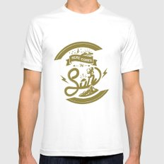 Here Comes The Son (Golden Boy Version) SMALL White Mens Fitted Tee