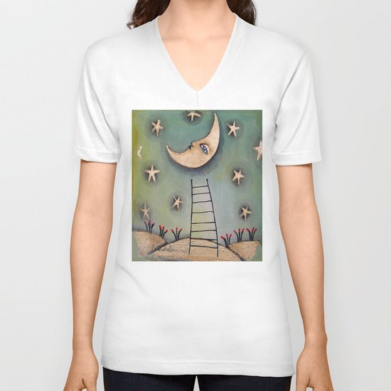MOON V-neck T-shirt