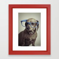 Dogs think they're sooo smart... Framed Art Print