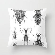 Entomologic Bones Throw Pillow