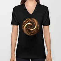 Golden Spirals Unisex V-Neck