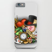 alice in wonderland iPhone & iPod Cases featuring Wonderland  by Katie Simpson a.k.a. Redhead-K