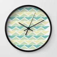 Ocean Triangles Wall Clock