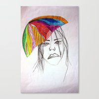 sad and colorful Canvas Print