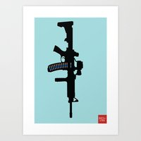 Art not War - Blue Art Print
