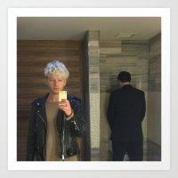 Untitled (selfie In Men'… Art Print