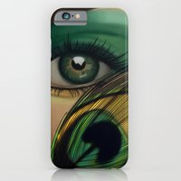 iPhone & iPod Case featuring Through The Eye Of A Peacock by Daniella Gallistl