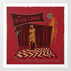 THE BLACK LODGE Art Print