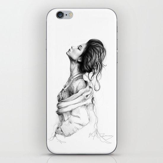 Pretty Lady Illustration iPhone & iPod Skin