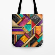 Colorful City Night Tote Bag