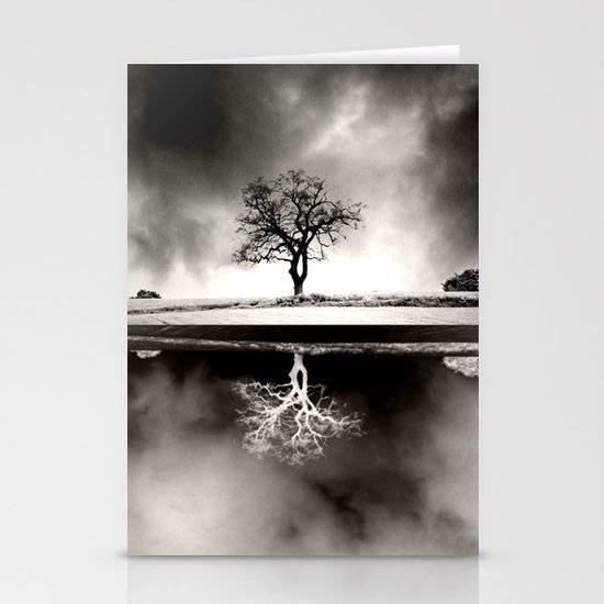 SOLITARY REFLECTION Stationery Card