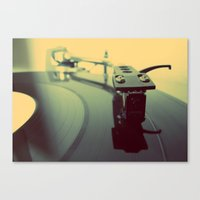 Needle On The Record Canvas Print